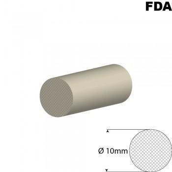 Wit Siliconensnoer | Ø 10mm | FDA keurmerk | Rol 25 meter of afsnijding