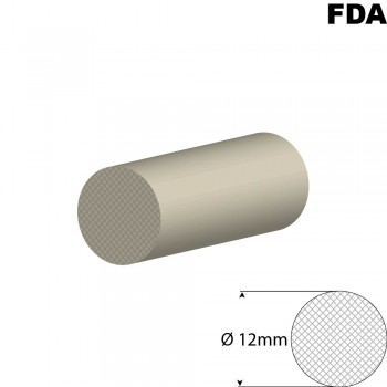 Wit Siliconensnoer | Ø 12mm | FDA keurmerk | Rol 25 meter of afsnijding
