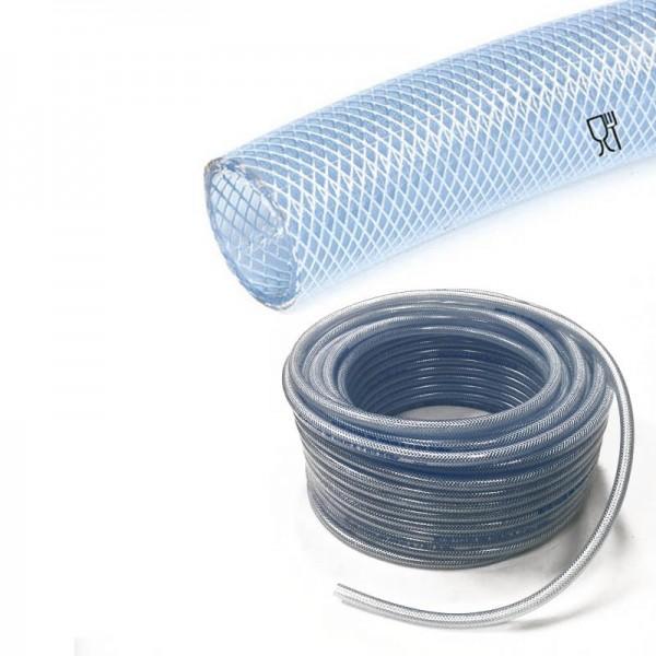 PVC slang met inlage   inwendig 8mm   uitwendig 14mm